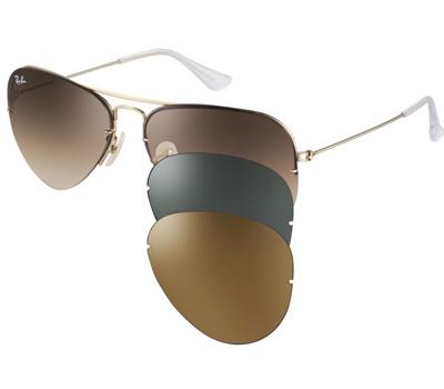ece6a3bbaf661 ... a Ray-Ban acaba de lançar novos kits dos modelos Aviador e Caravan com  três lentes diferentes que podem ser trocadas